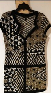 BCBGMaxAzria sleeveless stretch dress tunic M